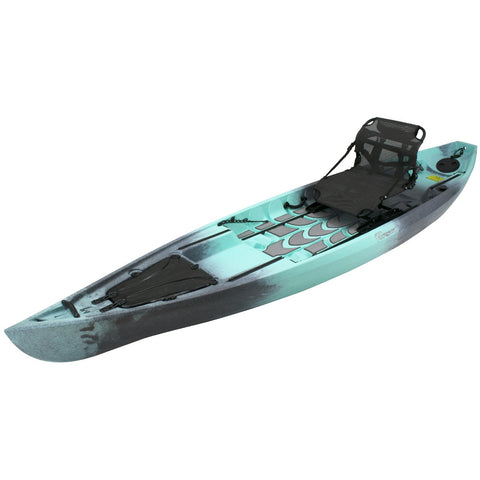 NuCanoe Pursuit 13.5' Fishing Kayak | Gulf Storm Camo - Kayak Creek