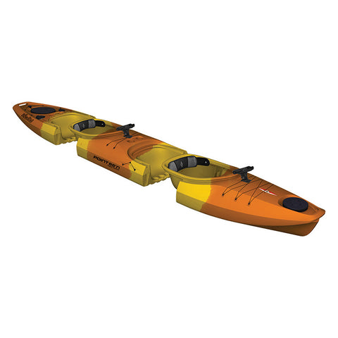 Point 65 Martini GTX Angler Tandem Kayak - Yellow/Orange - Kayak Creek
