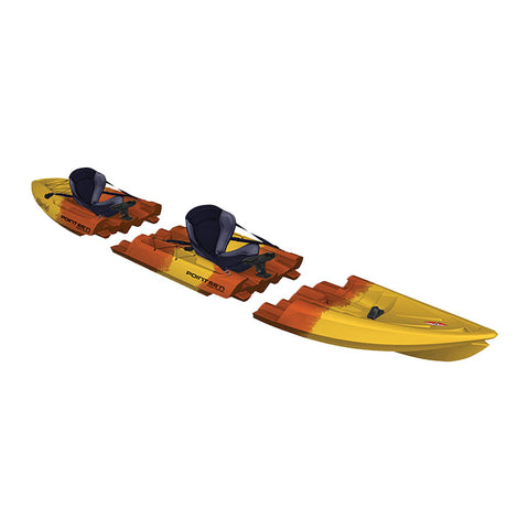 Point 65 Tequila! GTX Angler Tandem Kayak | Yellow/Orange - Kayak Creek