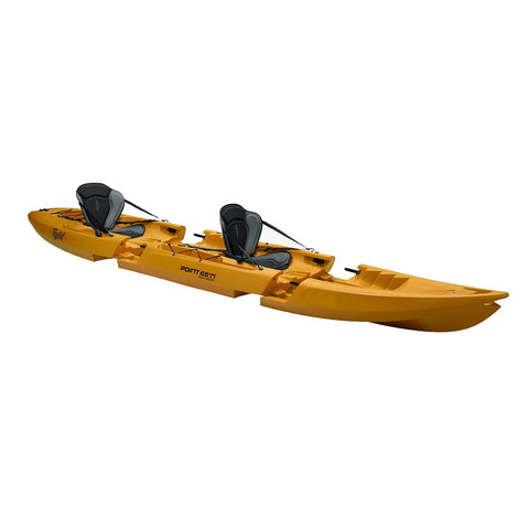 Point 65 Tequila! GTX Tandem Modular Kayak - Yellow - Kayak Creek