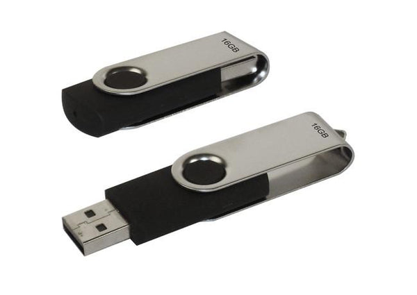 16GB silver flash drive with hook in frosted presentation case, Computer Accessories - Presence