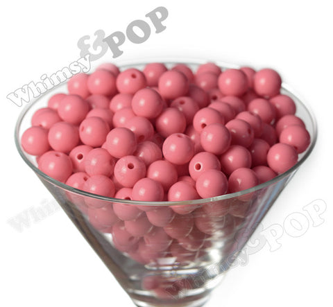 FLAMINGO PINK 12mm Solid Gumball Beads - WhimsyandPOP