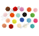 MIXED Color 15mm Dahlia Chrysanthemum Flower Cabochons - WhimsyandPOP