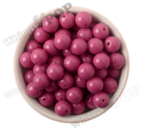 WATERMELON PINK 16mm Solid Gumball Beads - WhimsyandPOP