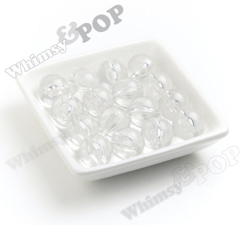 CLEAR 20mm Transparent Gumball Beads - WhimsyandPOP