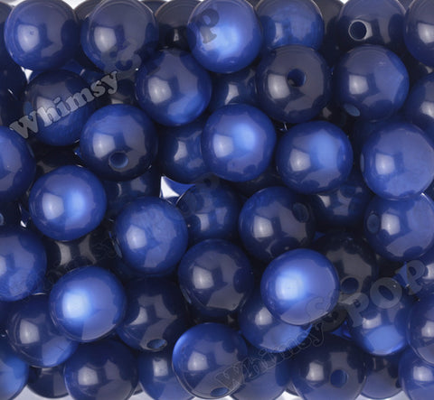 DARK BLUE 20mm Cats Eye Gumball Beads - WhimsyandPOP