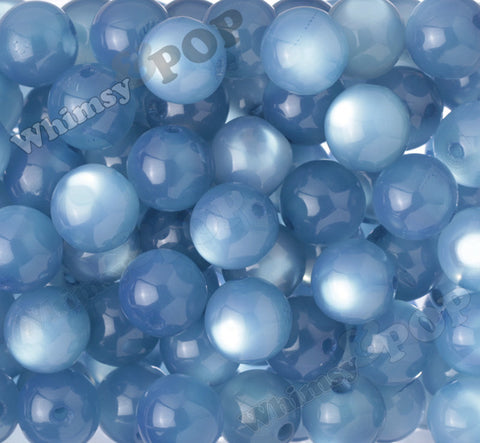 COOL BLUE 20mm Cats Eye Gumball Beads - WhimsyandPOP