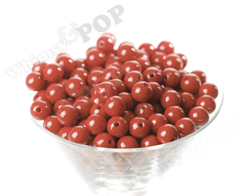 RED 12mm Solid Gumball Beads - WhimsyandPOP