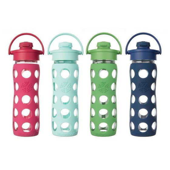 Onelife Singapore.Lifefactory 16oz Glass Bottle with Flip Cap