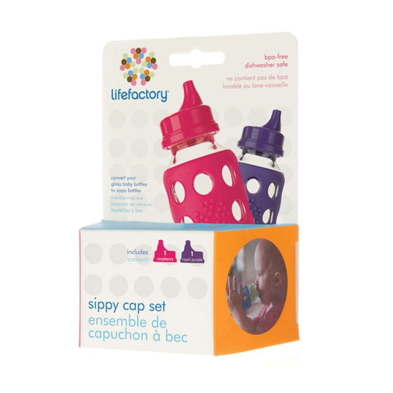 Onelife Singapore.Sippy Cap Accessories for Lifefactory 4oz and 9oz Baby Bottles,Raspberry & Royal Purple