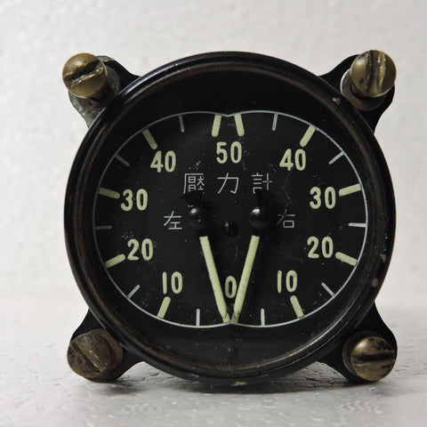 Pressure Gauge, Dual Engine, Japanese G4M Betty Bomber