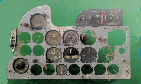 F3D-2 Skyknight Fighter Instrument Panel