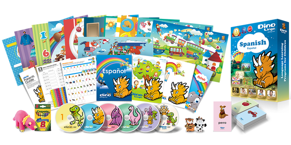 Spanish for kids Deluxe set - Dino Lingo Checkout