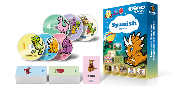 Spanish for kids Standard set - Dino Lingo Checkout