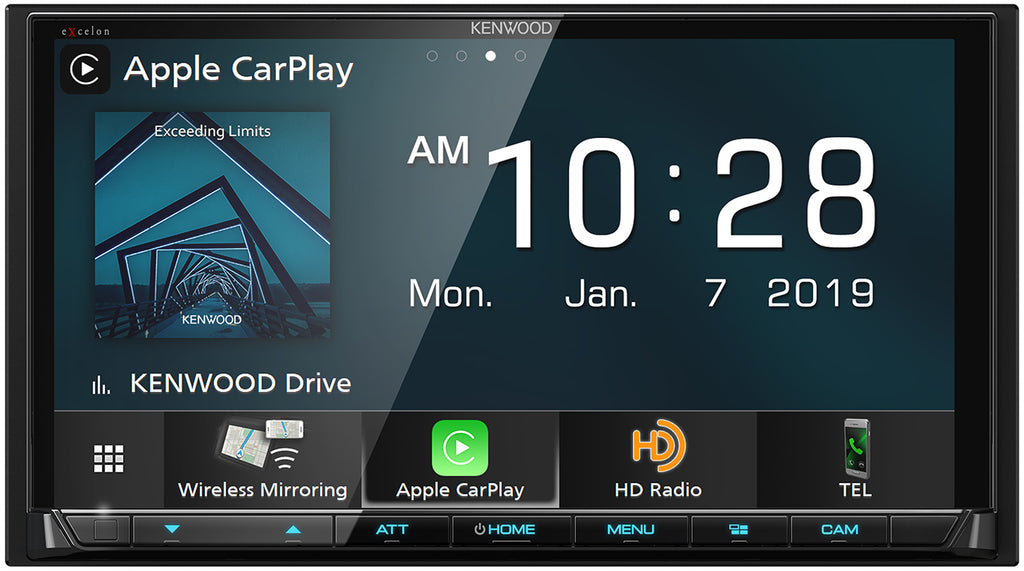 "Kenwood Excelon DMX906S 6.95"" Wireless Apple CarPlay & Wireless Android Auto Multimedia Receiver"