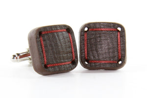 Elvis & Kresse Torpedo Cufflinks - Brown and Red
