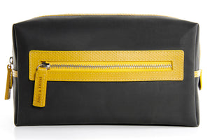 Elvis & Kresse Washbag - Black and Yellow
