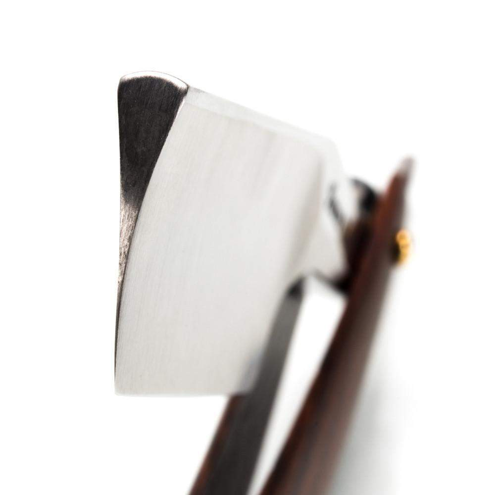 Harner 15/16 XHP Half-hollow Round Point Razor, with Cocobolo Scales-