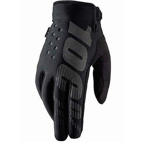 100% Briskser Cold Weather Gloves MTB Bicycle Bike Cycle Cycling Black