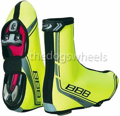 BBB Heavy Duty High Visibility 3mm Neoprene Cycle Cycling Overshoes