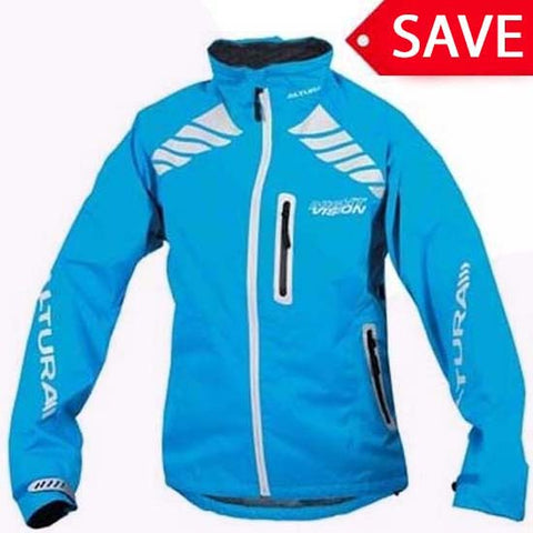 Altura Night Vision Evo Women's Girls Waterproof MTB Mountain Bike Cycle Jacket Blue