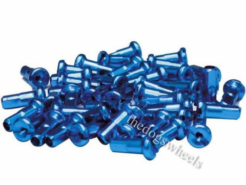 Halo Spoke Nipples 12mm Anodised Blue Alloy aluminium