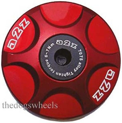 A2Z Anodised Alloy Headset Compressor Topcap Top Cap & Bolt Red MTB Bicycle Bike