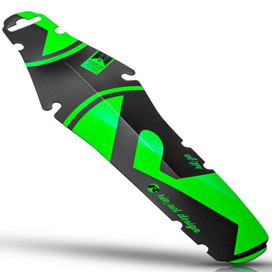 Riesel Schlamm Rear Enduro Style Mudguard MTB Bicycle Bike Green & Black