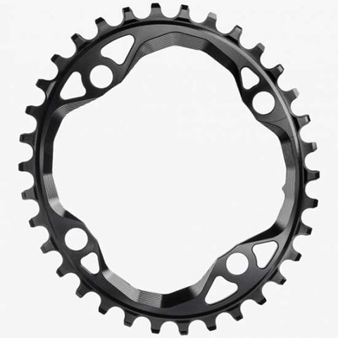 Absolute Black Oval Mountain Bike MTB 104bcd Chainring 34T Black