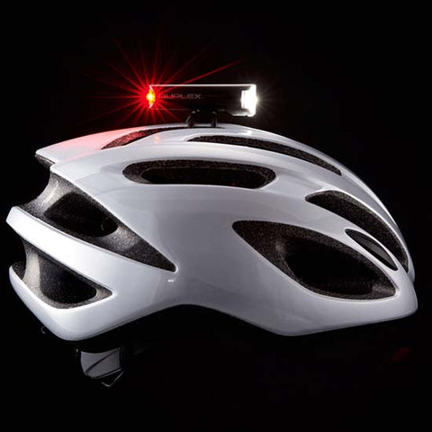 Cateye Duplex Helmet Mounted Front Rear LED Light Bicycle Mountain Bike MTB