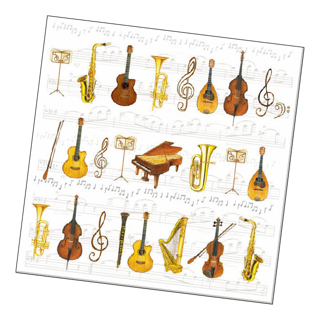 Orchestra Instruments Paper Luncheon Napkins