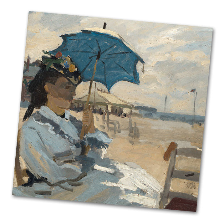 The Beach at Trouville by Monet Luncheon Napkins