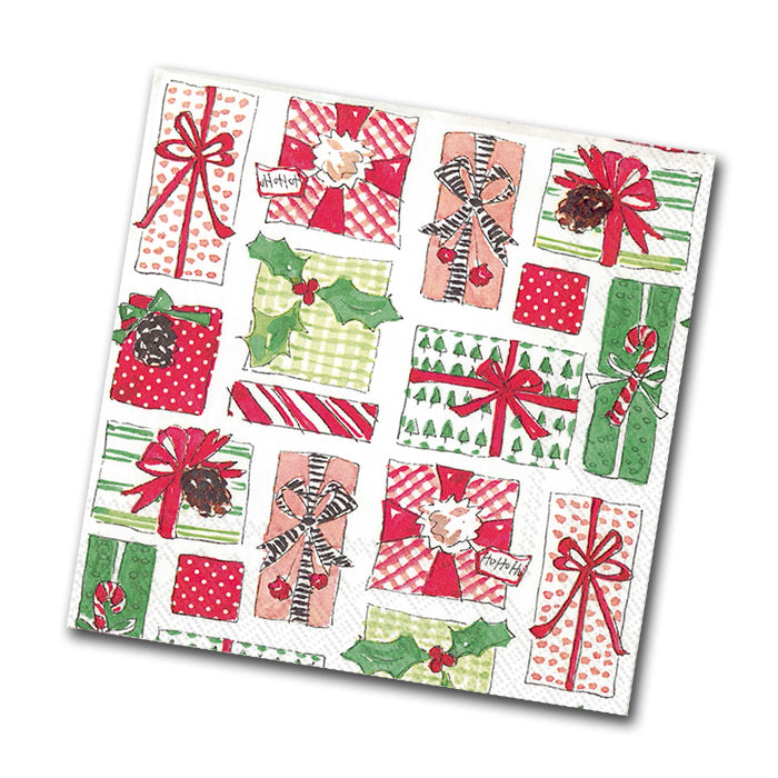 Christmas Gifts Paper Napkins - Beverage