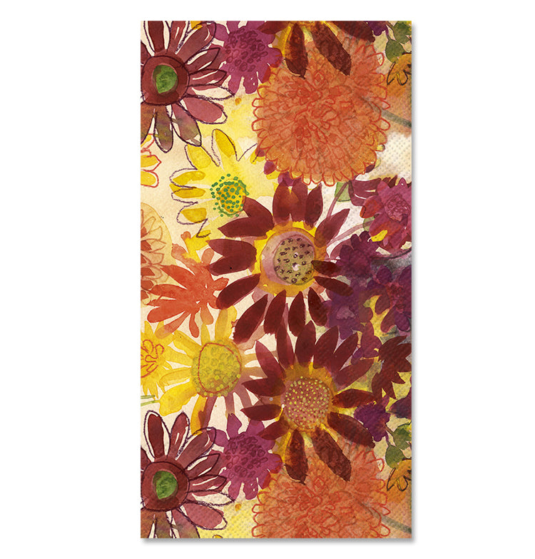 Bunch of Fall Flowers Paper Guest Towels