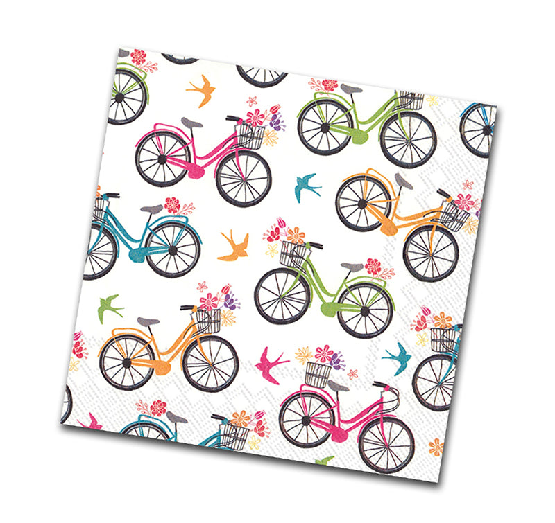 Enjoy the Ride, Bicycle Luncheon Napkin