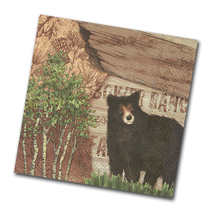 Bear Country Paper Beverage Napkin