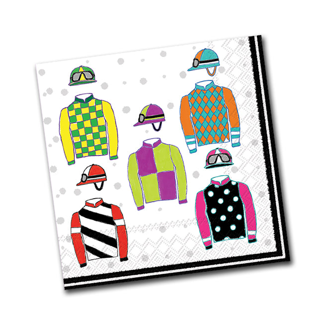 Racing Silks Paper Beverage Napkins