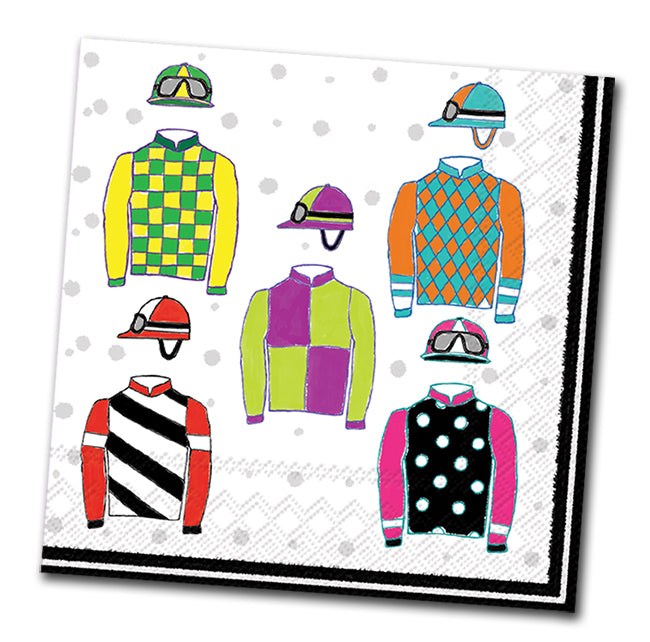 Racing Silks Paper Luncheon Napkins