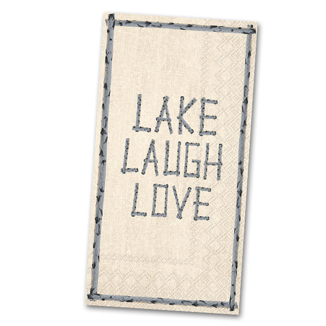 Lake Laugh Love Paper Guest Towels - Buffet Napkins