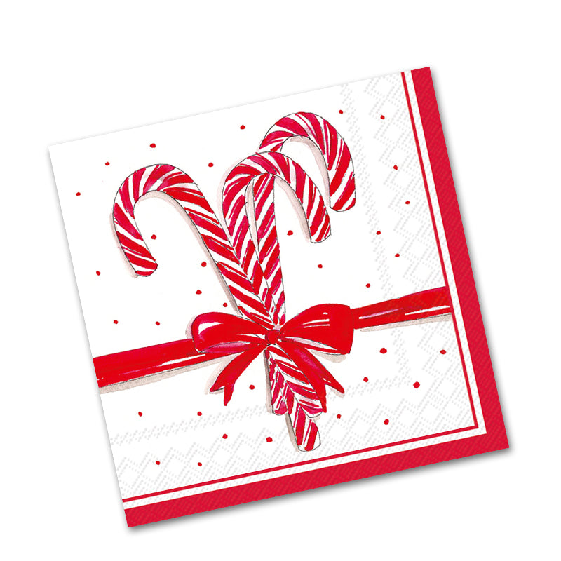 Candy Canes Beverage Napkins