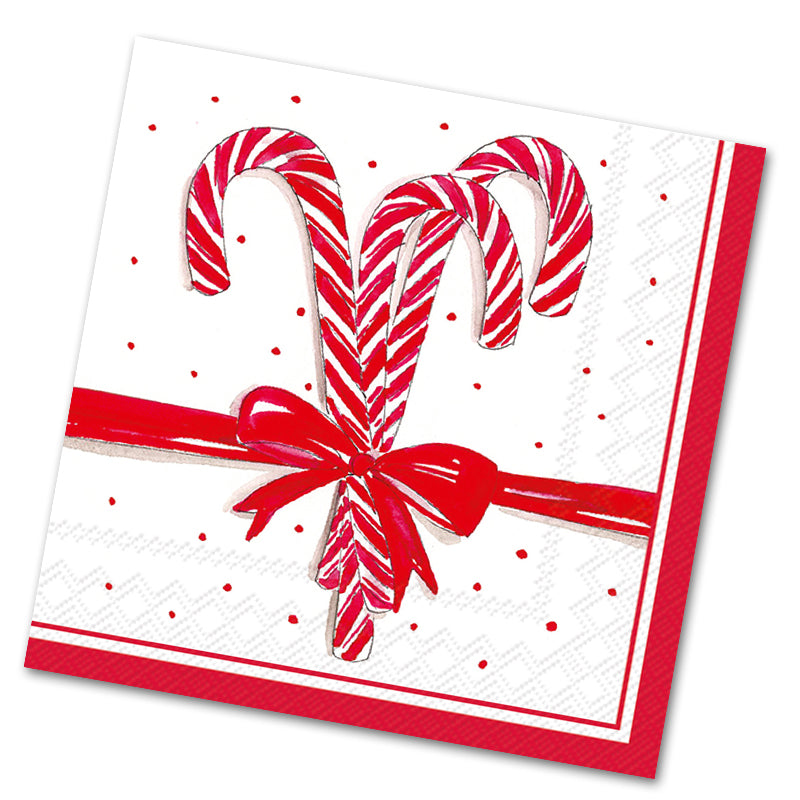 Candy Canes Luncheon Napkins