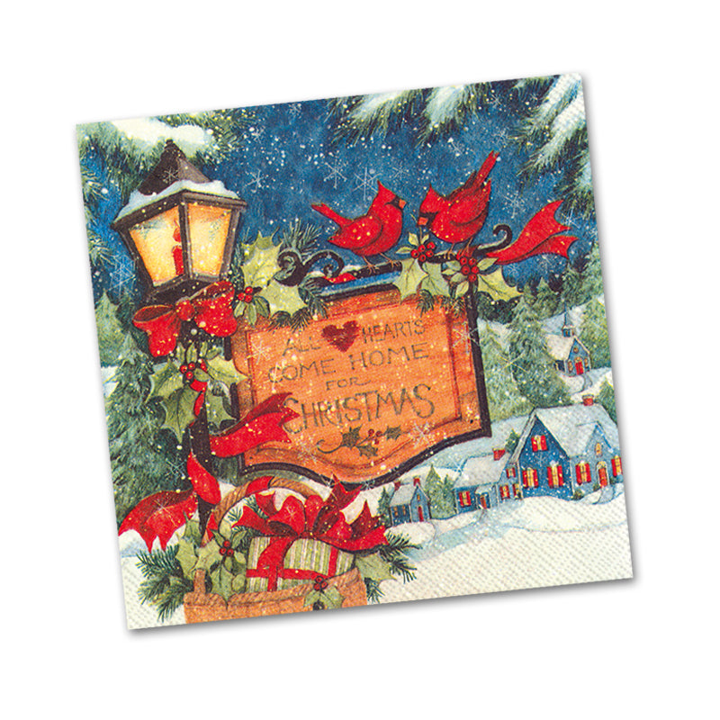 Come Home for Christmas Beverage Napkins
