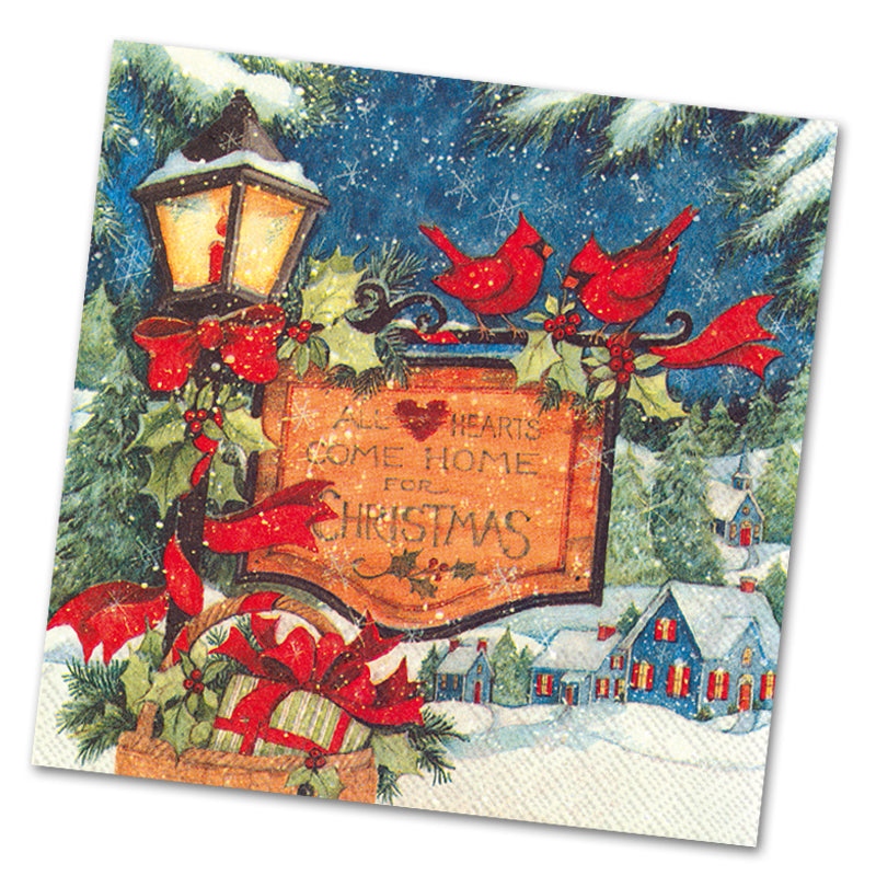 Come Home for Christmas Luncheon Napkins