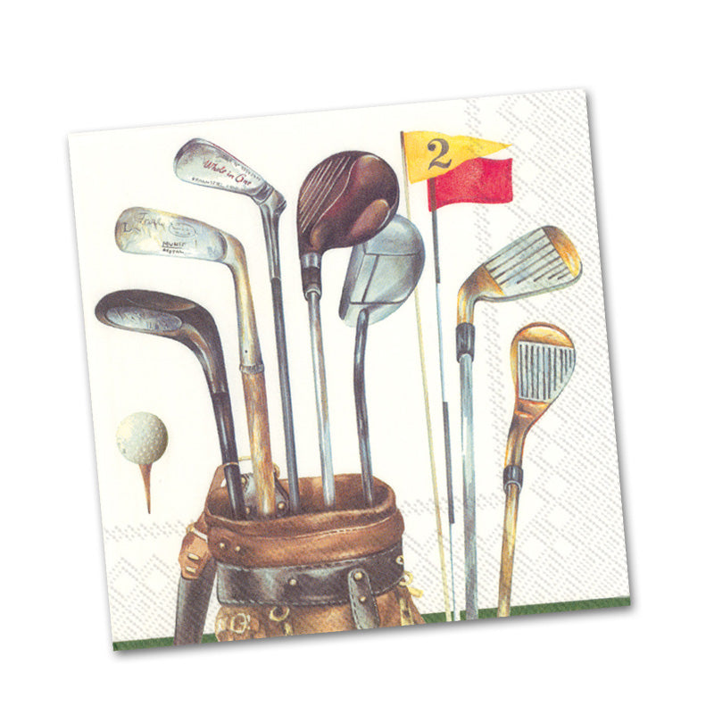 Golf Clubs Paper Beverage Napkins