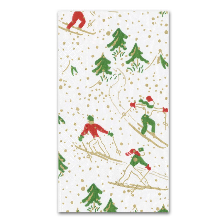 Winter Sports Guest Towels - Buffet Napkins - White