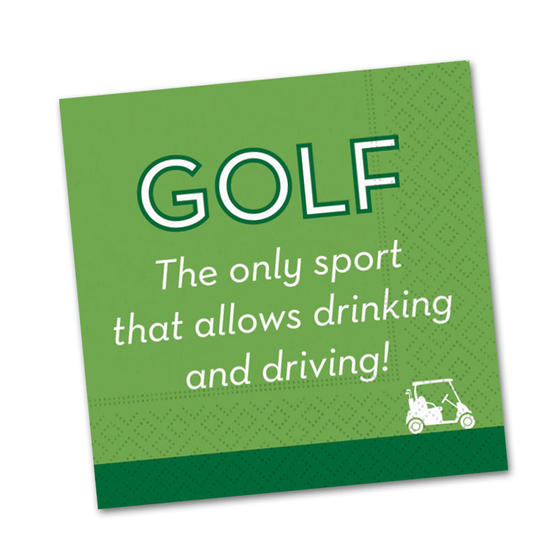 Golf Drink and Drive Funny Beverage Napkins