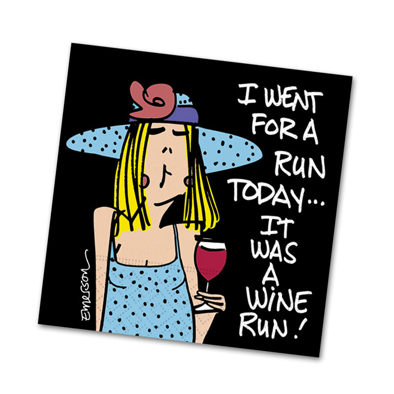 A Wine Run, Funny Cocktail Napkins
