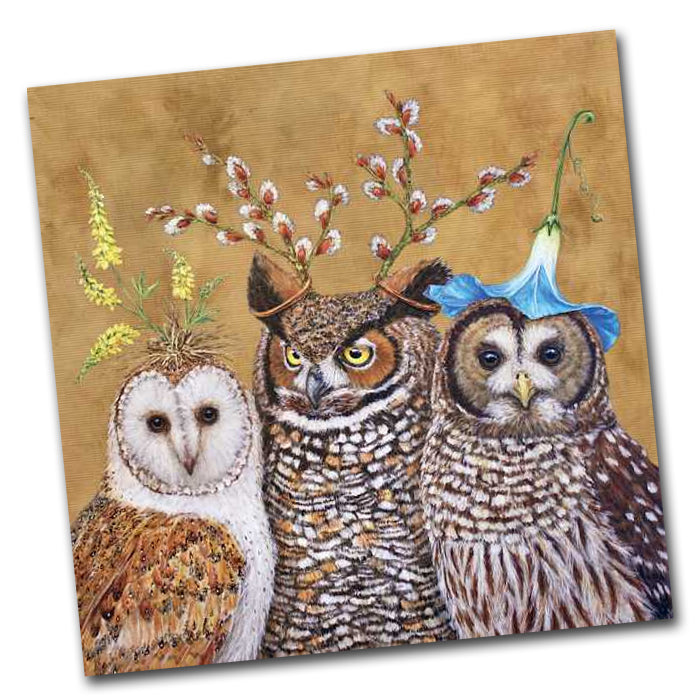 Owl Family Paper Napkins - Luncheon