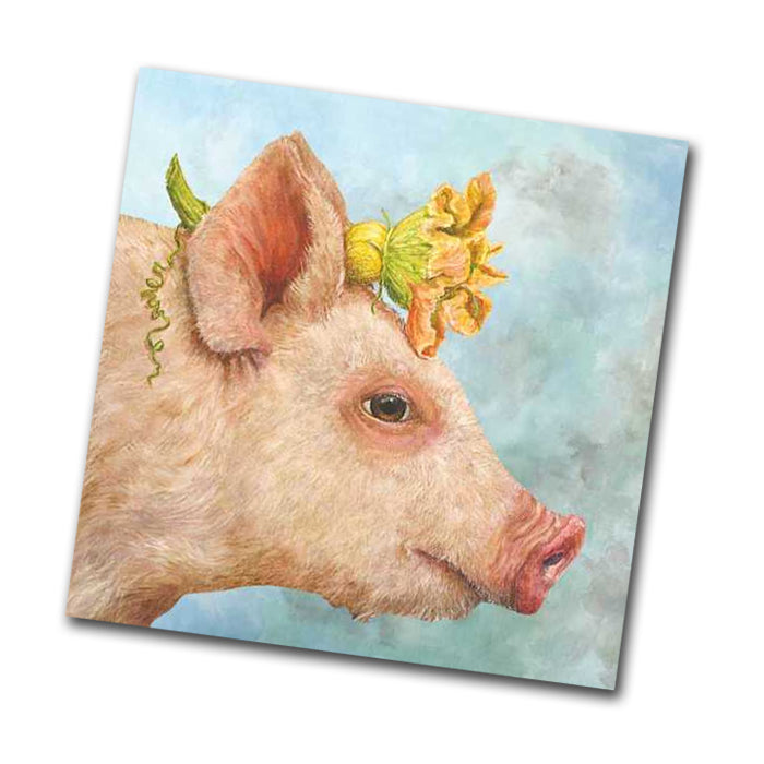 Blossom the Pig Paper Napkins - Beverage