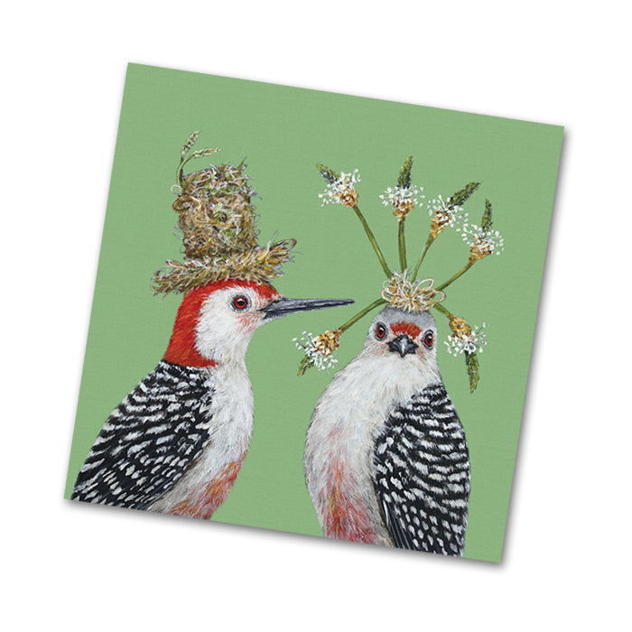 First Date Birds Paper Beverage Napkins